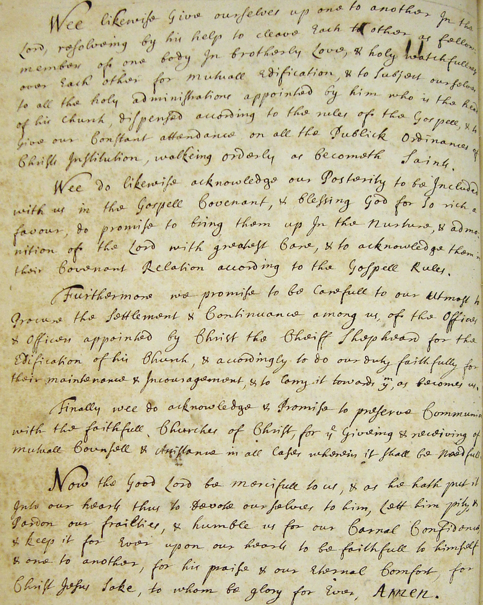 Second Page of the Covenant, 1691
