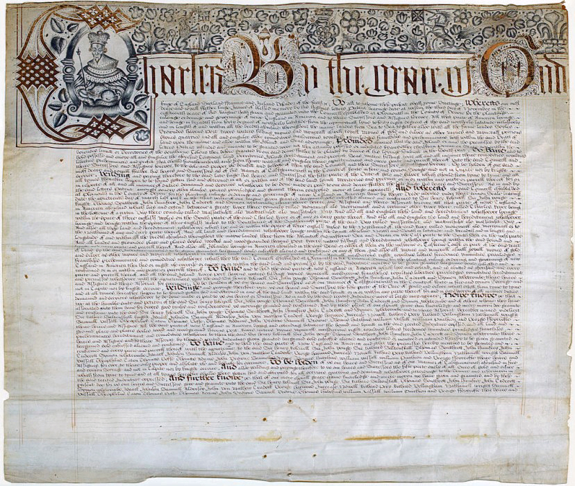 First page of the Massachusetts Bay Company charter