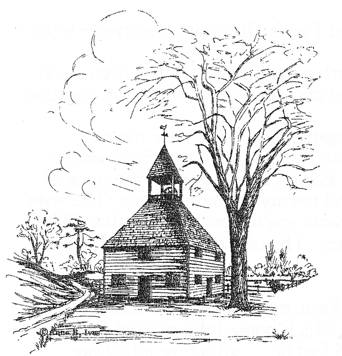 What the first meeting house may have looked like
