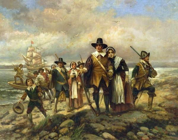 The Pilgrims landing at Plymouth, 1620